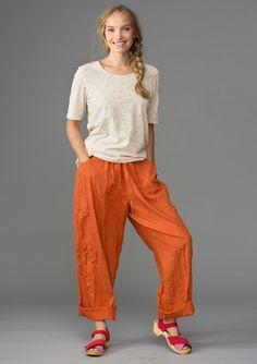Lagenlook Sewing Patterns | Eco-cotton trousers – Summer 2013 – GUDRUN SJÖDÉN | Attire