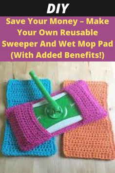 Crochet Kitchen, Crochet Home, Crochet Crafts, Crochet Projects, Diy Projects, Yarn Crafts, Mop Pads, Diy Hacks, Home Hacks
