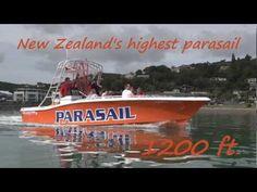Kiwi Parasail Paihia, Bay of Islands. Flying kiwi parasail is New Zealand's highest parasailing trip - YouTube