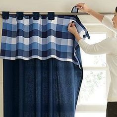 56 Windows Decor That Will Make Your Home Look Fantastic Windows Decor Home Curtains, Curtains With Blinds, Kitchen Curtains, Valances, Curtain Styles, Curtain Designs, Rideaux Design, Diy Home Decor, Room Decor