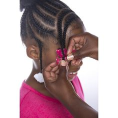 Protective Styles For Natural Hair Discover Gabby Double Face Double Snap Barrette - Hot Pink GaBBY Double Face Double Snap Barrette - Hot Pink Undercut Hairstyles Women, Lil Girl Hairstyles, Girls Natural Hairstyles, Kids Braided Hairstyles, Black Toddler Girl Hairstyles, Kids Hairstyle, Low Bun Hairstyles, Dreadlock Hairstyles, Curly Hair Designs