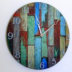 Cottage Chic Wall Clock Home Decor Decor and by Shannybeebo
