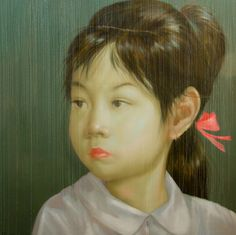 """OMG!! I LOVE This!!!   Attasit Pokpong  """"Young Girl""""  200 x 200cm  Oil on canvas"""