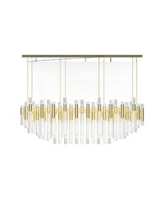 The Waterfall Chandelier brings a natural feeling of waterfalls to any space #chandelier #luxurylighting #lampdesign luxury design, home decor, lighting design . See more information at www.luxxu.net