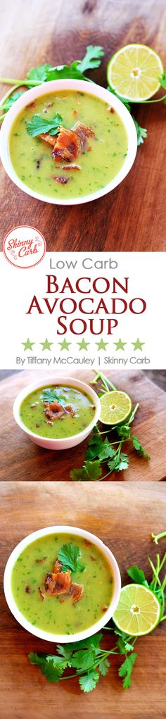 This amazing, brothy soup is perfect for summer. It's light, it's satisfying, and the flavors are unique and delicious. Enjoy it warm or chilled! ~ http://www.skinnycarb.com