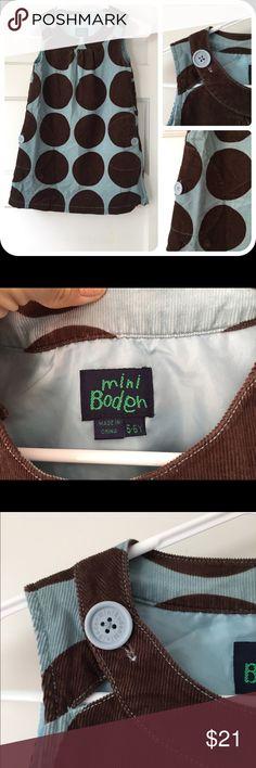 Mini Boden Corduroy Dress polls dots 5-6 Soft corduroy dress by Mini Boden. Excellent condition! Mini Boden Dresses Casual