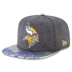 aae9f7fd755 Men s Minnesota Vikings New Era Graphite NFL Spotlight Original Fit 9FIFTY  Snapback Adjustable Hat
