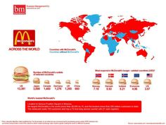 Curiosities: Maps That Will Change the Way You See the World - McDonalds around the world.