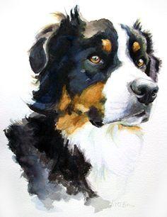 Watercolor dog