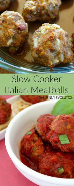 Slow Cooker Italian Meatballs Family Dinner Recipe