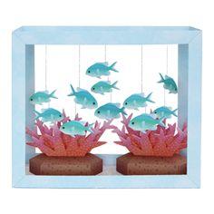 Aquarium de papier: Chromis Bleu-Vert - Jouets - Créations en papier - Canon CREATIVE PARK