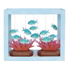 Paper Aquarium: Blue-Green Puller - Toys - Paper Craft - Canon CREATIVE PARK