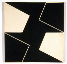 Lygia Clark Planos em Superficie Modulada, 1952 Collage on cardboard Unframed: 20 x 20 cm / 7 7/8 x 7 7/8 ins Framed: 52.2 x 52.2 cm / 20 1/2 x 20 1/2 ins Alison Jacques Gallery