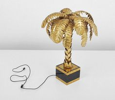 Buy online, view images and see past prices for Maison Jansen Palm Tree Lamp. Invaluable is the world's largest marketplace for art, antiques, and collectibles. Interior Inspiration, Design Inspiration, Tree Lamp, Look Vintage, Deco Design, Home Lighting, Lamp Light, Palm Trees, Creative