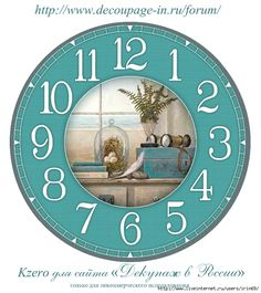 Could it be made larger and printed in 2 parts for a larger clock? Paper Clock, Clock Art, Diy Clock, Clock Decor, Wall Clocks, Decoupage Vintage, Decoupage Paper, Clock Face Printable, Classic Clocks