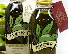 Premio Olive Oil. Yummy IMPDO. Label Design, Package Design, Graphic Design, Olive Oil Packaging, Olive Oil And Vinegar, Olive Oil Bottles, Olive Oils, Olives, Branding