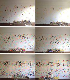 Die Wandgestaltung selber machen: gepunktete Wand