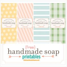 make your own soap {our fave recipes + free printables} | the handmade home More