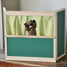 Table-Top Puppet Theater | Puppet Theater | Imagination Play Ideas