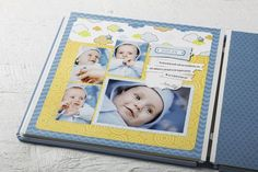 Creative Memories Baby Boy Scrapbook | Pure Joy Its a Boy Scrapbook Layout Project from Creative Memories ...
