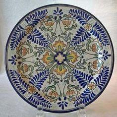 Uriarte Talavera Dinner Plate - mediterranean - dinnerware - The Clay Corner