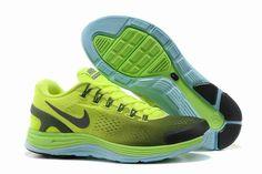 Nike LunarGlide+ 4 Männerschuhe Gelb Grün Blau