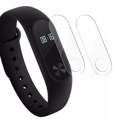 New Arrival Top Quality 2Pcs 37x12mm TPU Screen Protector Super-protective Film for Xiaomi Mi 2 Watch Band