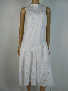 ebcd684c042 $258 French Connection White Embroidered Pleated Illusion Dress 10 US NWT  F477 #FrenchConnection #ShiftDress