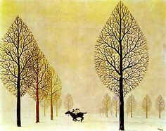 René Magritte    The Lost Jockey 1948