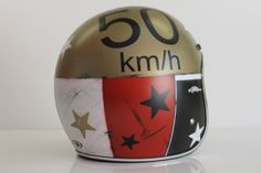 New cafè racer helmet. Hand painting by Ag Design Pesaro Italy. www.agdesignpesaro.com
