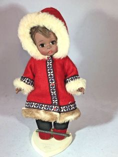 "Vintage Madame Alexander Eskimo 8"" Doll, 1967-1969  bent knee #MadameAlexander"