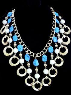 Howlite metal necklace Summer 2013