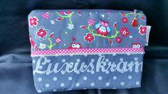 Kulturbeutel - Eulen Kulturtasche - ein Designerstück von Hampelmaennchen bei DaWanda