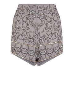 Grey (Grey) Grey Embellished Shorts  | 317937404 | New Look