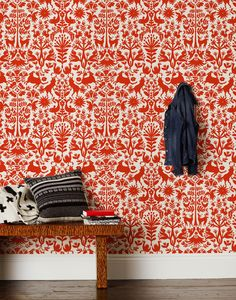 Otomi (Red) Wallpaper | Hygge & West