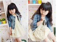 Cheap kids denim jacket, Buy Quality children spring jackets directly from China jacket girl Suppliers: High Quality 2016 Children Spring jacket With Lace toddler girl blazer brand toddler outerwear jackets girl kids denim jacket Dress With Jean Jacket, Jean Jacket For Girls, Lace Jacket, Denim And Lace, Cute Jackets, Denim Jackets, Jean Jackets, Outerwear Jackets, Outfit Jeans