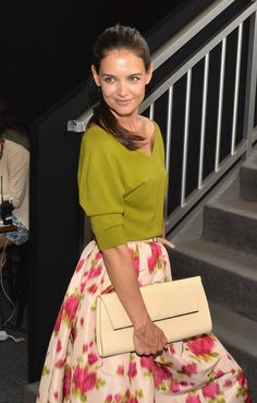 Katie Holmes attends the Mercedes-Benz Star Lounge during Mercedes-Benz Fashion Week Spring 2014.