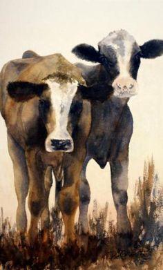 Watercolour Paintings By Australian Artist Joe Cartwright - Calf painting