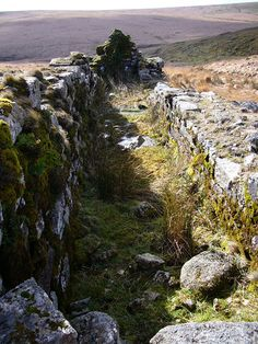 Medieval wheelpit at Huntingdon mine on southern Dartmoor. Without tin there would have been no Bronze Age. Tin is rare in Europe. The earliest and largest center for tin mining in Europe dates to 2500 BCE in Erzgebirge in the Balkans. It was in huge demand and exported as far as the Mediterranean. Other sources of tin in Europe were mined in Devon and Cornwall in England, Brittany in France, the Iberian Peninsula and a tiny amount in Italy used by the Etruscans.