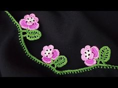 New Crochet Needlework Models Crochet Lace Edging, Crochet Borders, Thread Crochet, Crochet Doilies, Crochet Flowers, Crochet Stitches, Knit Crochet, Crochet Trim, Crochet Earrings Pattern