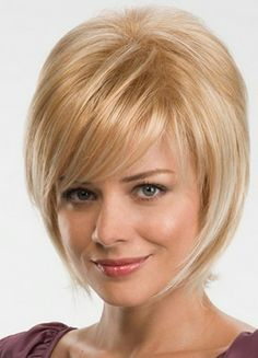 Beautiful Chic Short Straight Blonde Synthetic Hair Capless Ava Wig About 8 Inches