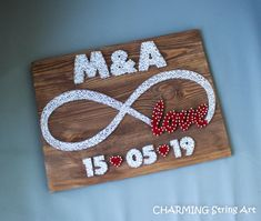String Art Names, String Wall Art, Nail String Art, Diy Wall Art, Wall Decor, Unique Gifts For Girlfriend, Boyfriend Girlfriend, Diy Crafts For Gifts, Crafts To Sell