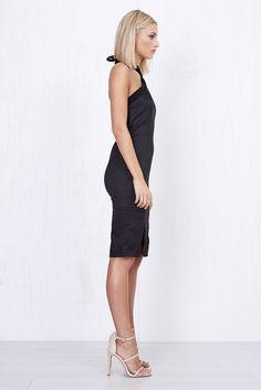 Olivia Sheer Dress Black   Morrisday   The Label
