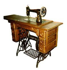 Singer Treadle Sewing Machine -- sews as well as my Featherweight, but people-powered!