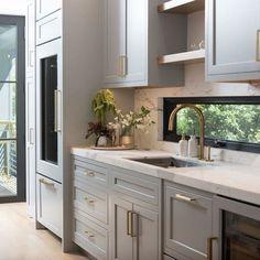 Galley Kitchen Design, Galley Kitchen Remodel, Kitchen Cabinet Remodel, Kitchen Cabinet Design, Kitchen Remodeling, Modern Kitchen Designs, Kitchen Refacing, Shaker Kitchen Cabinets, Brass Kitchen