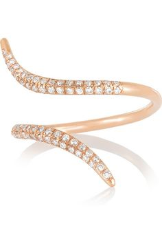 Diane Kordas | 18-karat rose gold diamond ring | NET-A-PORTER.COM