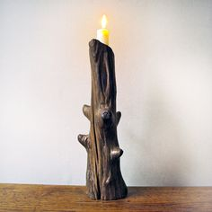 Driftwood Candlestick Holder.