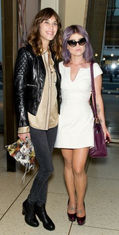 earlysunsetsovermonroeville:    Alexa Chung and Kelly Osbourne are seen around Lincoln Center during Spring 2013 Mercedes-Benz Fashion Week on September 9, 2012 in New York City.