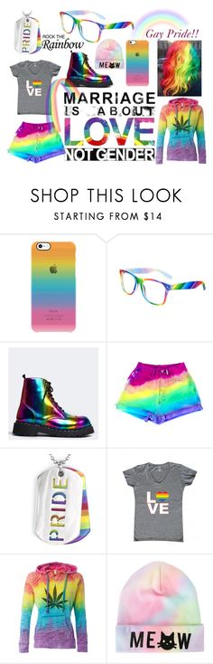 """Gay pride!!!"" by kattei ❤ liked on Polyvore featuring T.U.K., West Coast Jewelry, love, rainbow, gaypride, lovewins and donotbehomophopic"