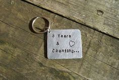 Wedding anniversary gift present years and counting keyring